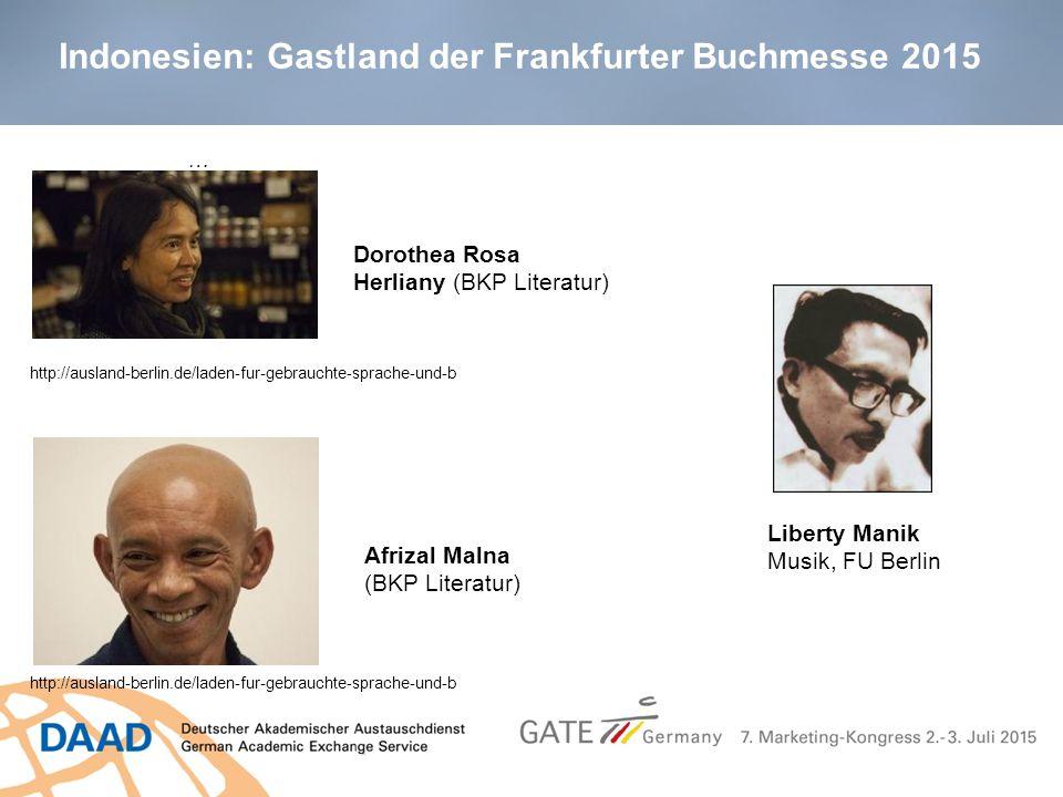 Indonesien: Gastland der Frankfurter Buchmesse 2015