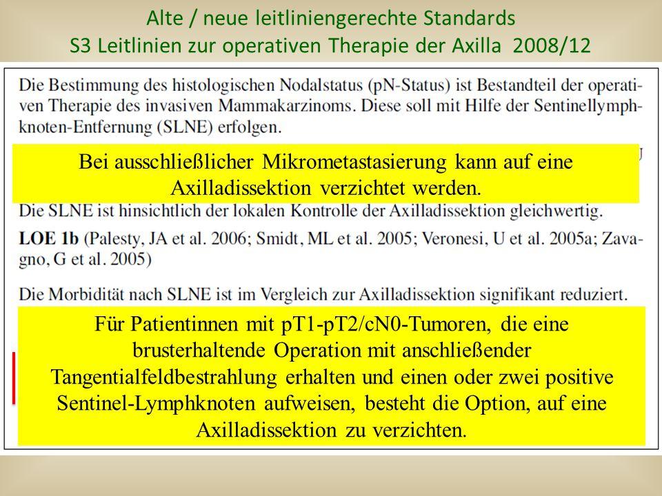 Alte / neue leitliniengerechte Standards