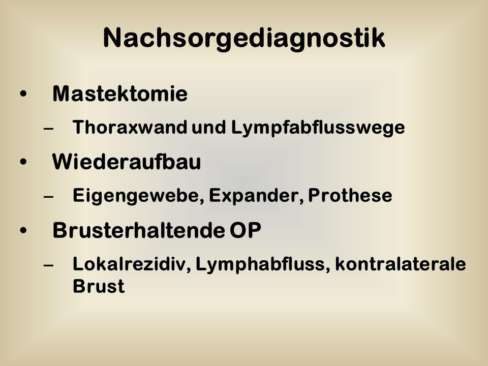 Nachsorgediagnostik Mastektomie Wiederaufbau Brusterhaltende OP