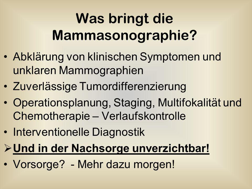 Was bringt die Mammasonographie