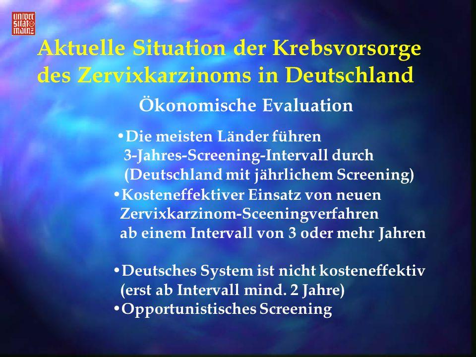 Aktuelle Situation der Krebsvorsorge des Zervixkarzinoms in Deutschland