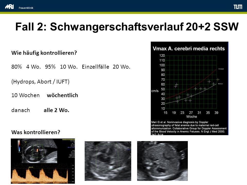 Fall 2: Schwangerschaftsverlauf 20+2 SSW