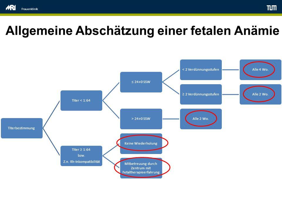 Allgemeine Abschätzung einer fetalen Anämie