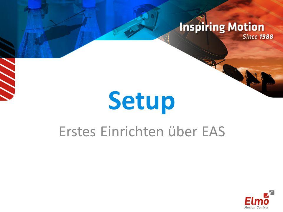 Erstes Einrichten über EAS