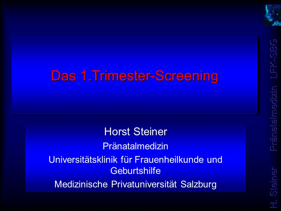 Das 1.Trimester-Screening