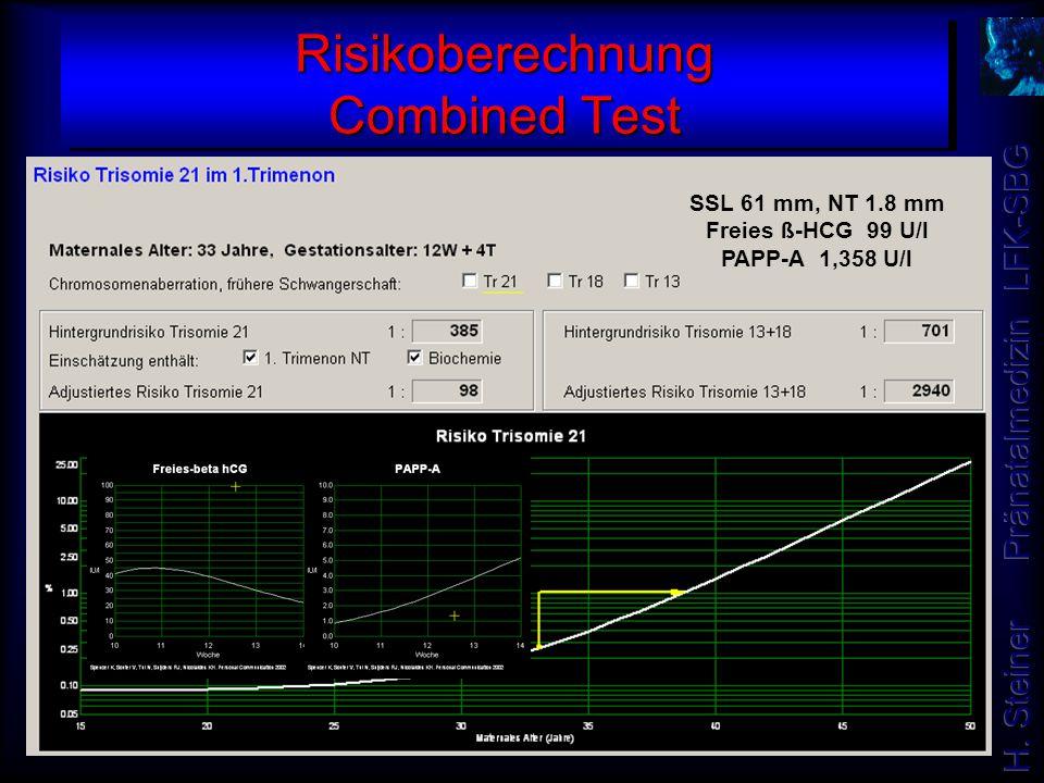 Risikoberechnung Combined Test