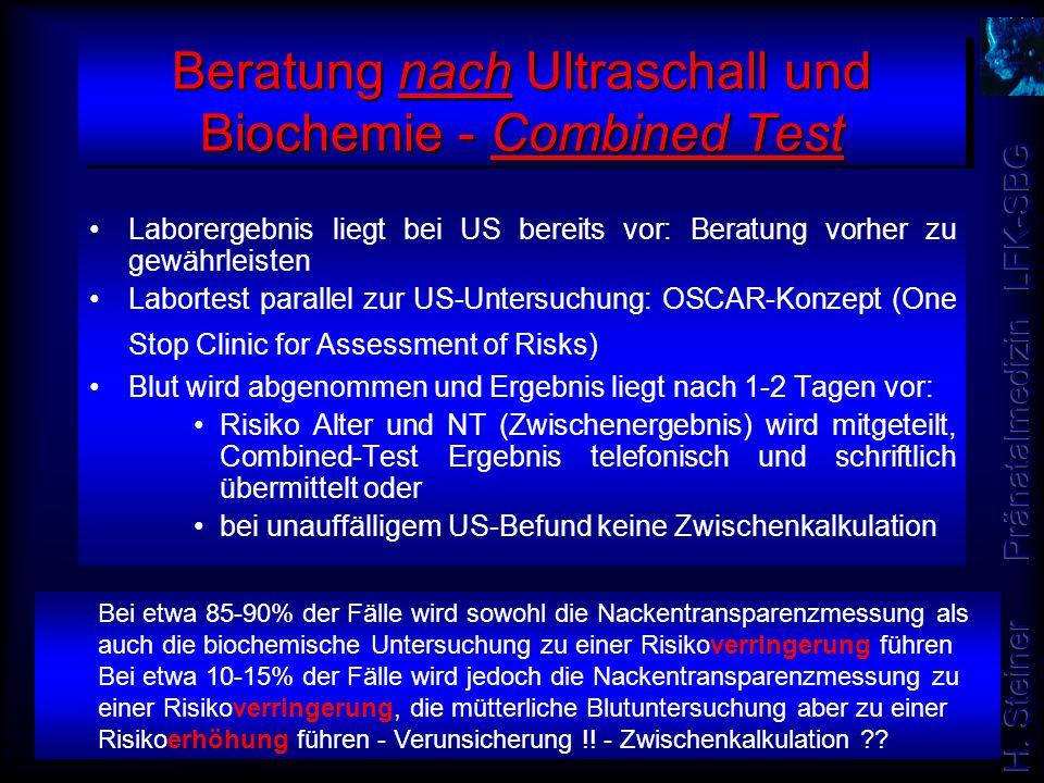 Beratung nach Ultraschall und Biochemie - Combined Test