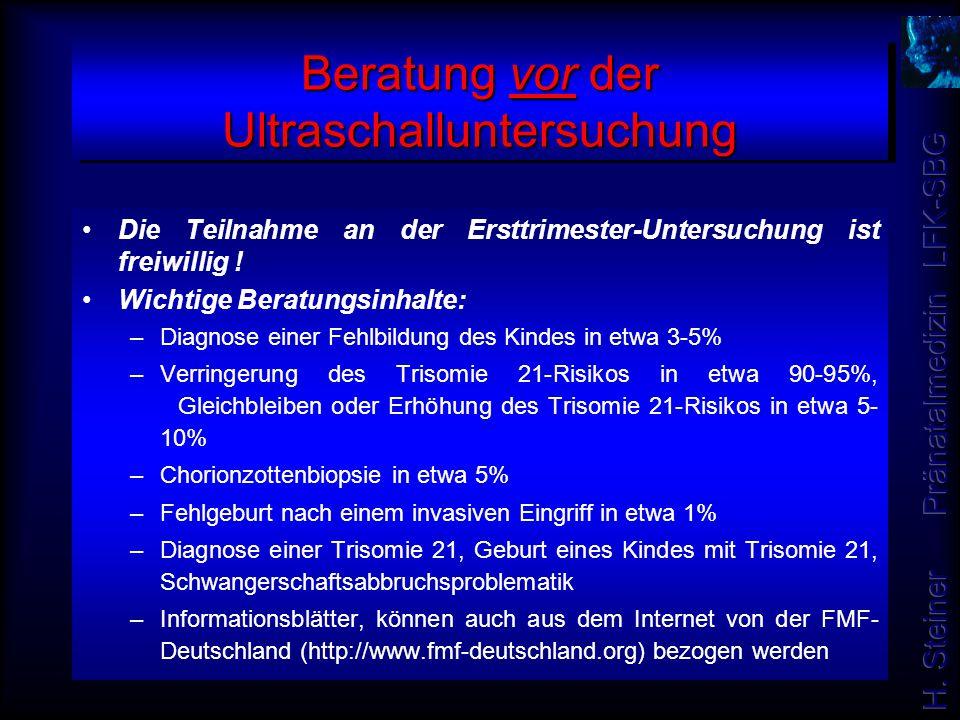 Beratung vor der Ultraschalluntersuchung