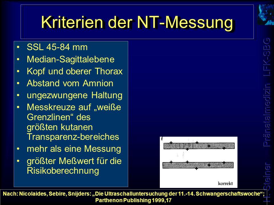 Kriterien der NT-Messung