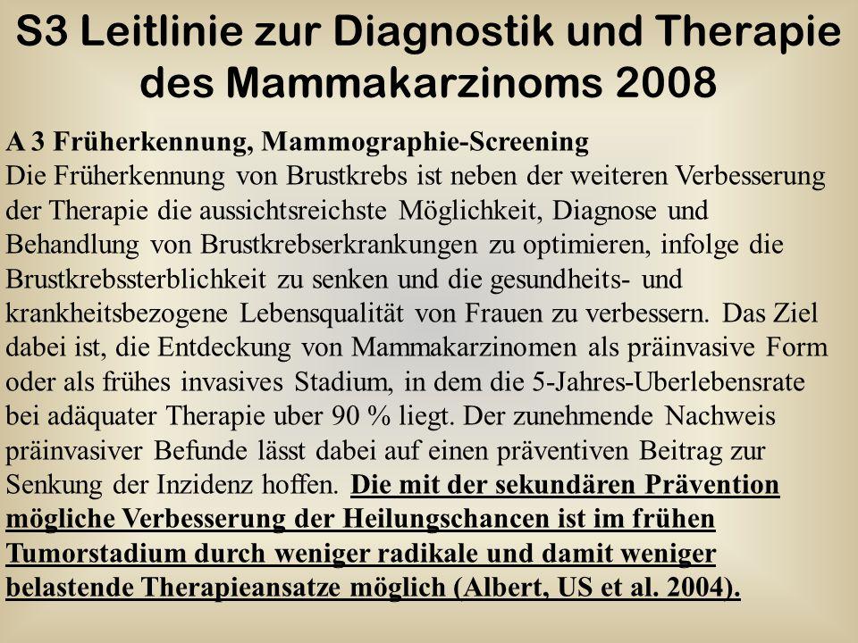 S3 Leitlinie zur Diagnostik und Therapie des Mammakarzinoms 2008