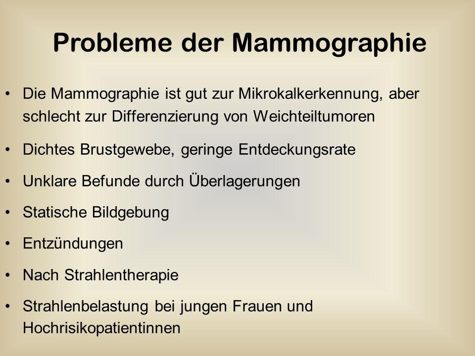 Probleme der Mammographie