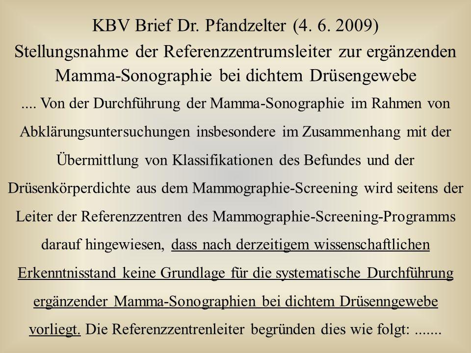 KBV Brief Dr. Pfandzelter (4. 6. 2009)