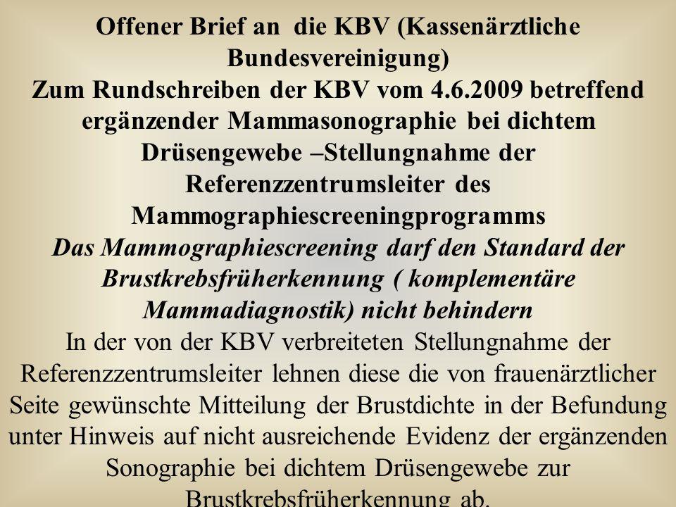 Offener Brief an die KBV (Kassenärztliche Bundesvereinigung)