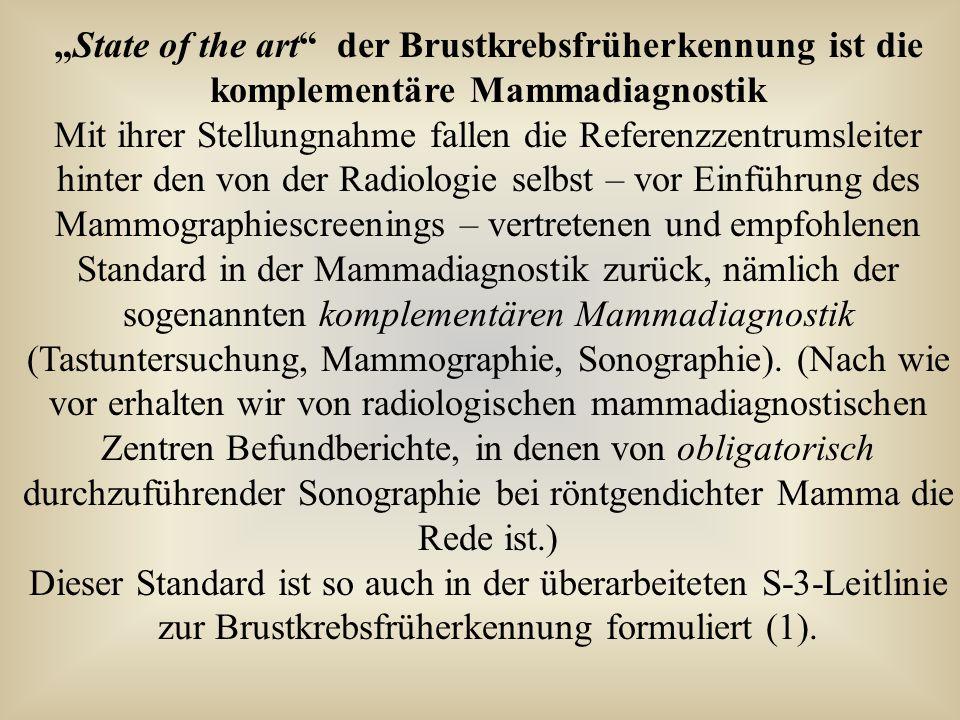 """""""State of the art der Brustkrebsfrüherkennung ist die komplementäre Mammadiagnostik"""