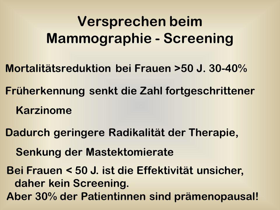Versprechen beim Mammographie - Screening