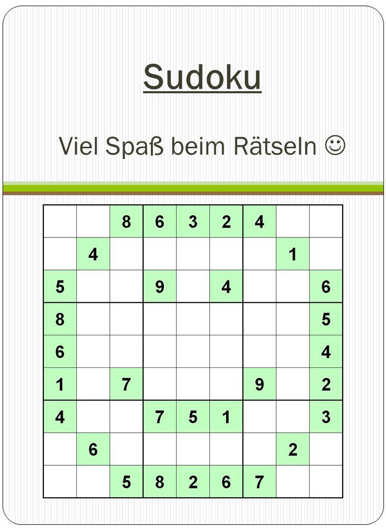 Sudoku Viel Spaß beim Rätseln 
