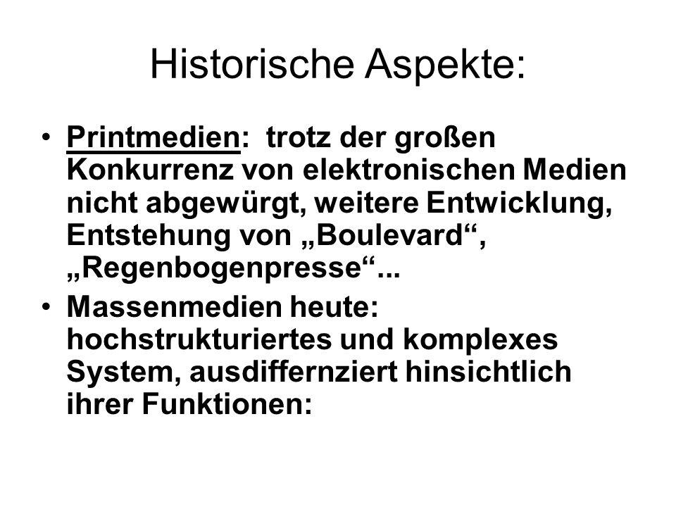 Historische Aspekte: