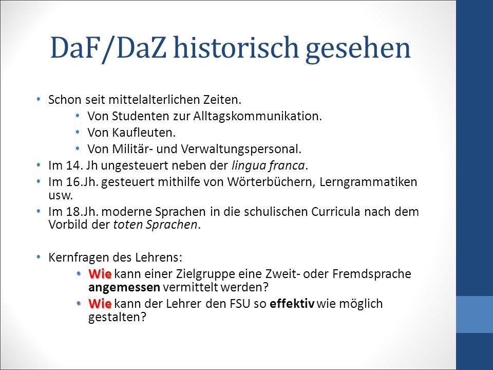 DaF/DaZ historisch gesehen