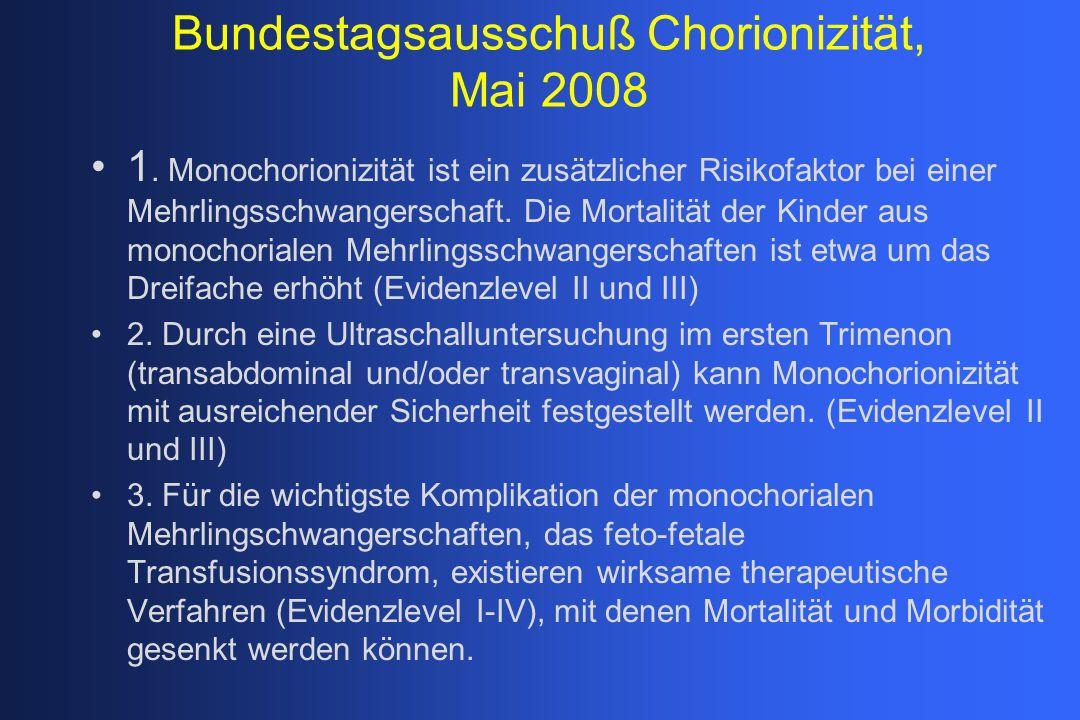 Bundestagsausschuß Chorionizität, Mai 2008