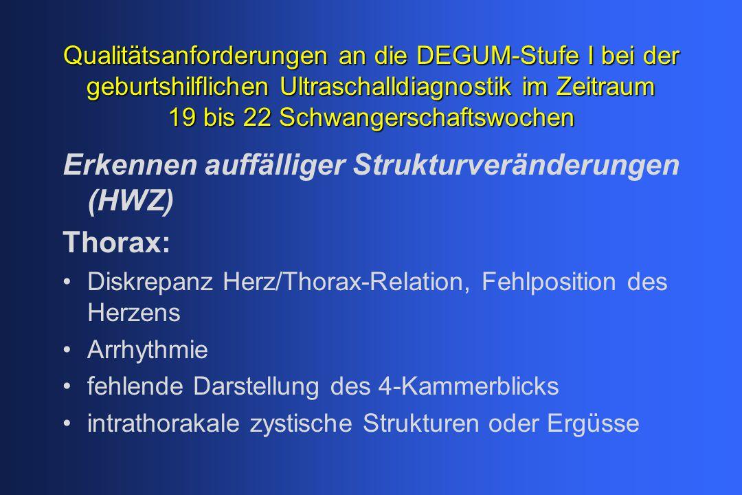 Erkennen auffälliger Strukturveränderungen (HWZ) Thorax: