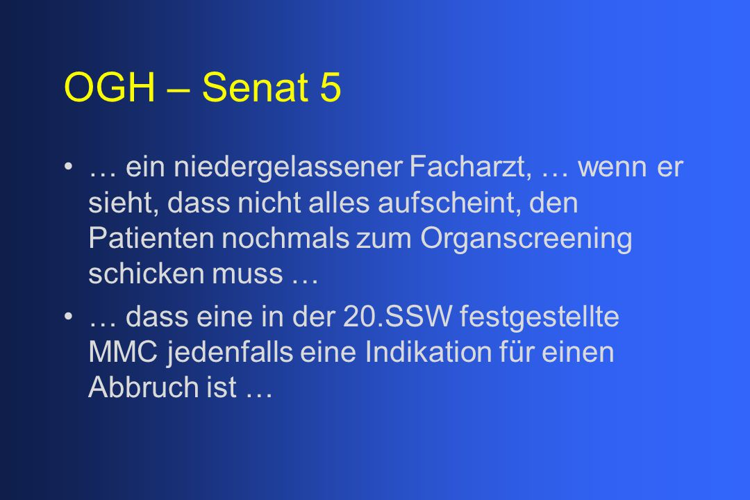 OGH – Senat 5