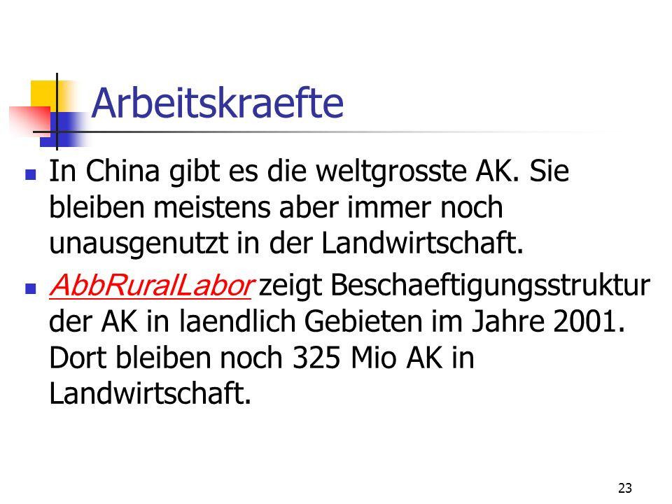 Arbeitskraefte In China gibt es die weltgrosste AK. Sie bleiben meistens aber immer noch unausgenutzt in der Landwirtschaft.