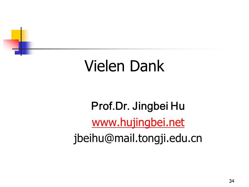 Vielen Dank Prof.Dr. Jingbei Hu www.hujingbei.net