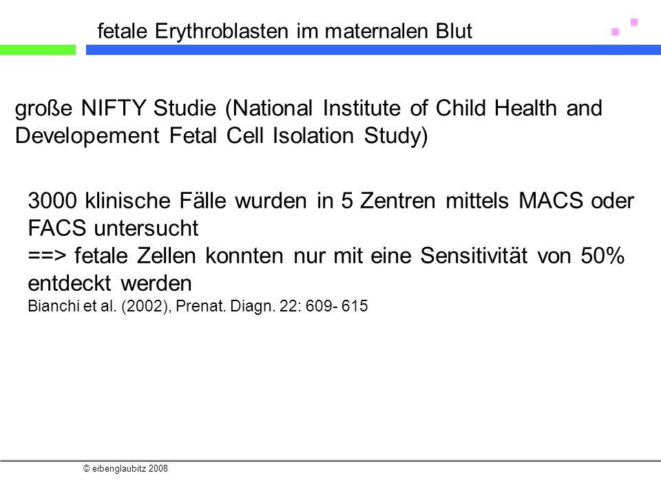 fetale Erythroblasten im maternalen Blut