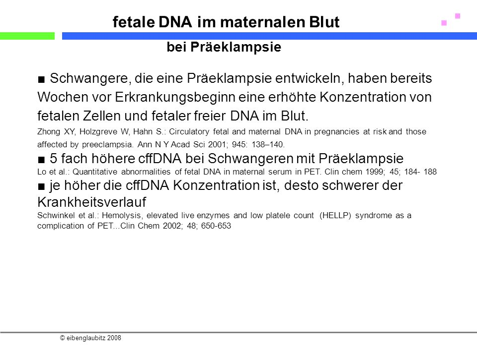 fetale DNA im maternalen Blut