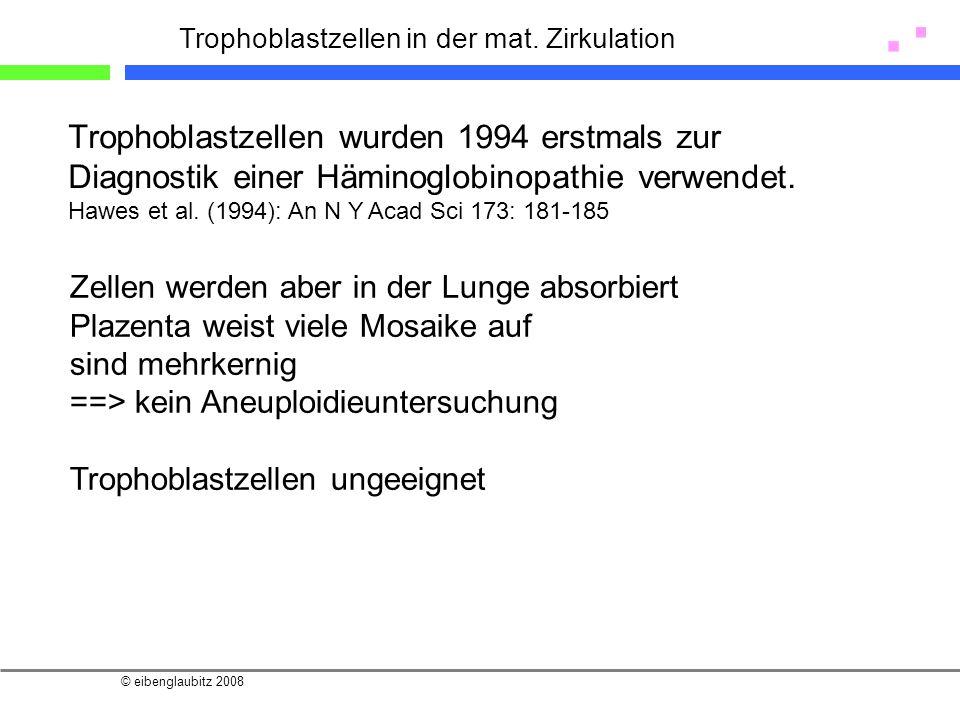 Trophoblastzellen in der mat. Zirkulation