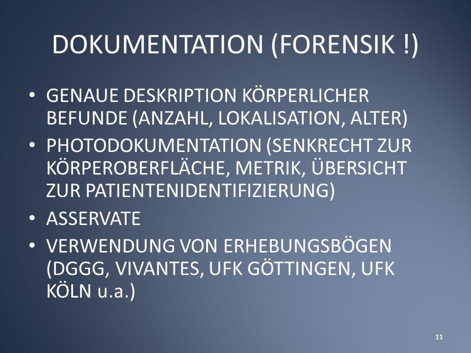 DOKUMENTATION (FORENSIK !)
