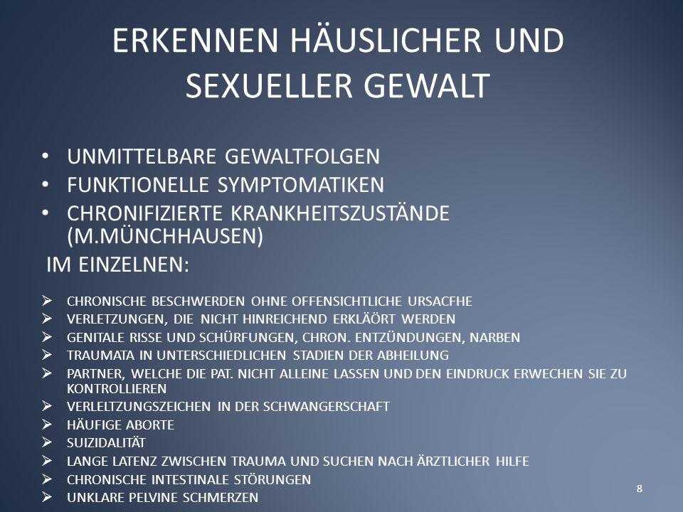 ERKENNEN HÄUSLICHER UND SEXUELLER GEWALT