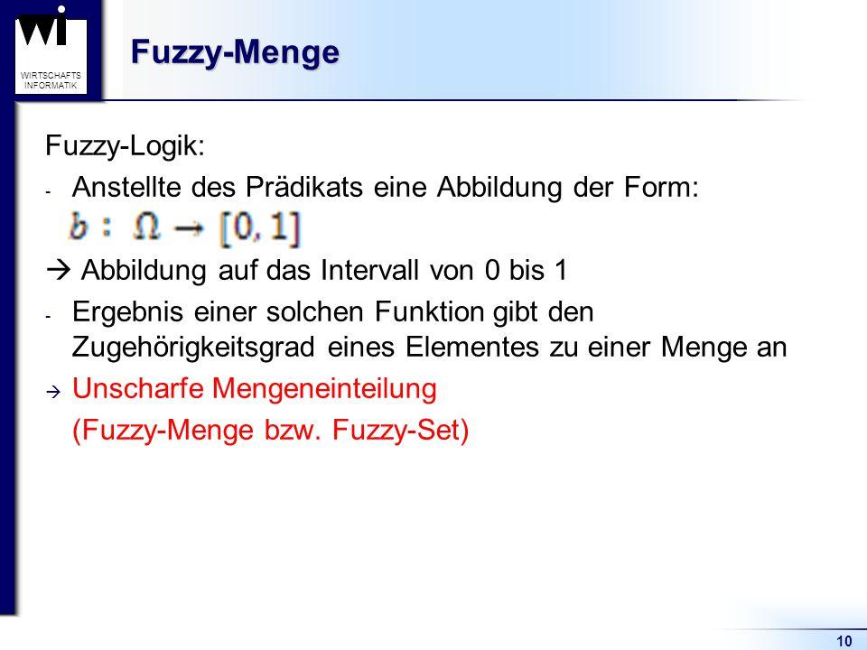 Fuzzy-Menge Fuzzy-Logik: