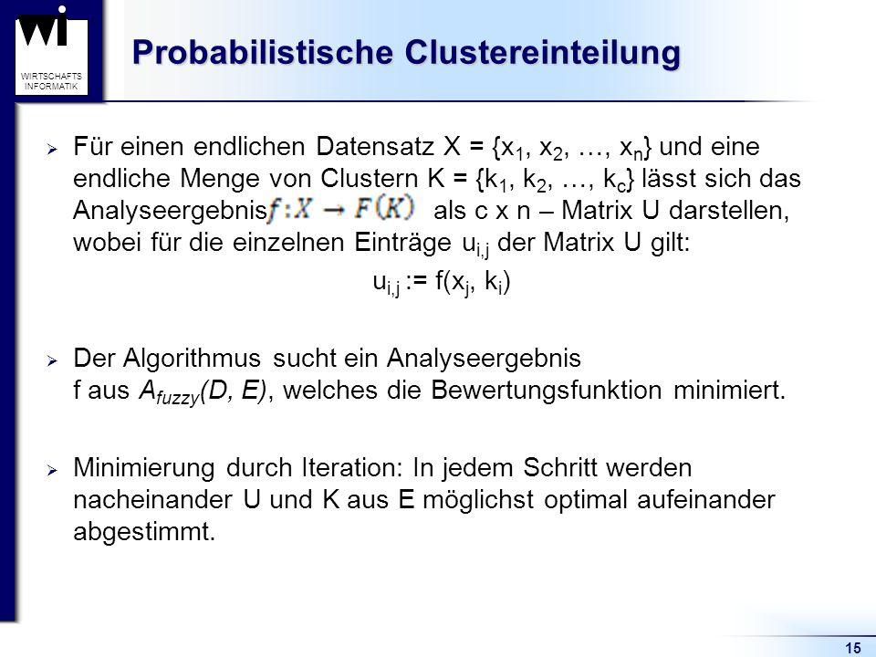 Probabilistische Clustereinteilung