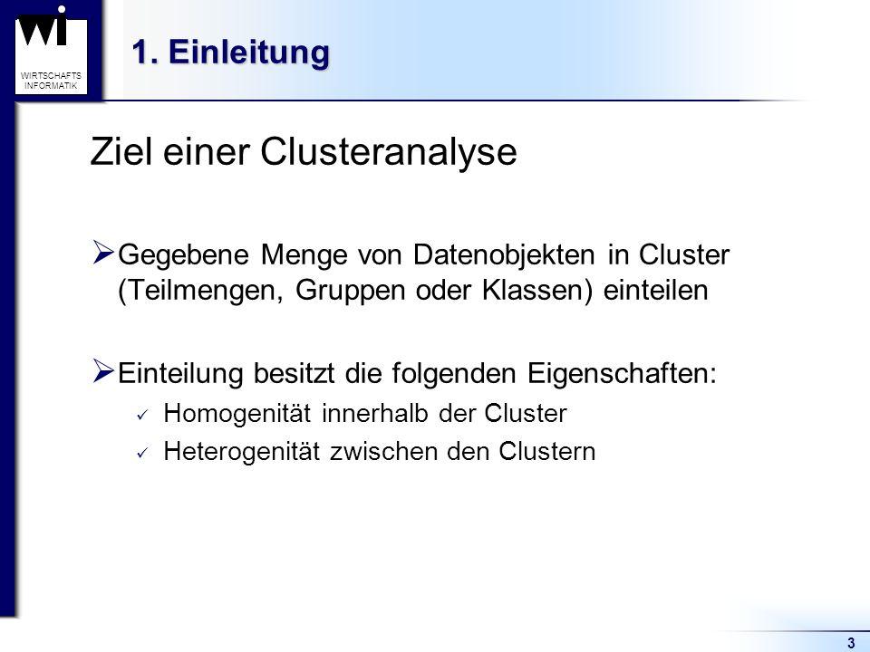 Ziel einer Clusteranalyse