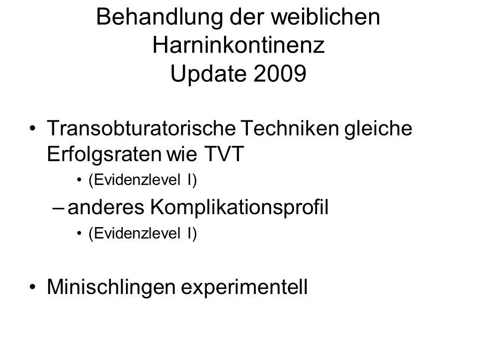 Behandlung der weiblichen Harninkontinenz Update 2009