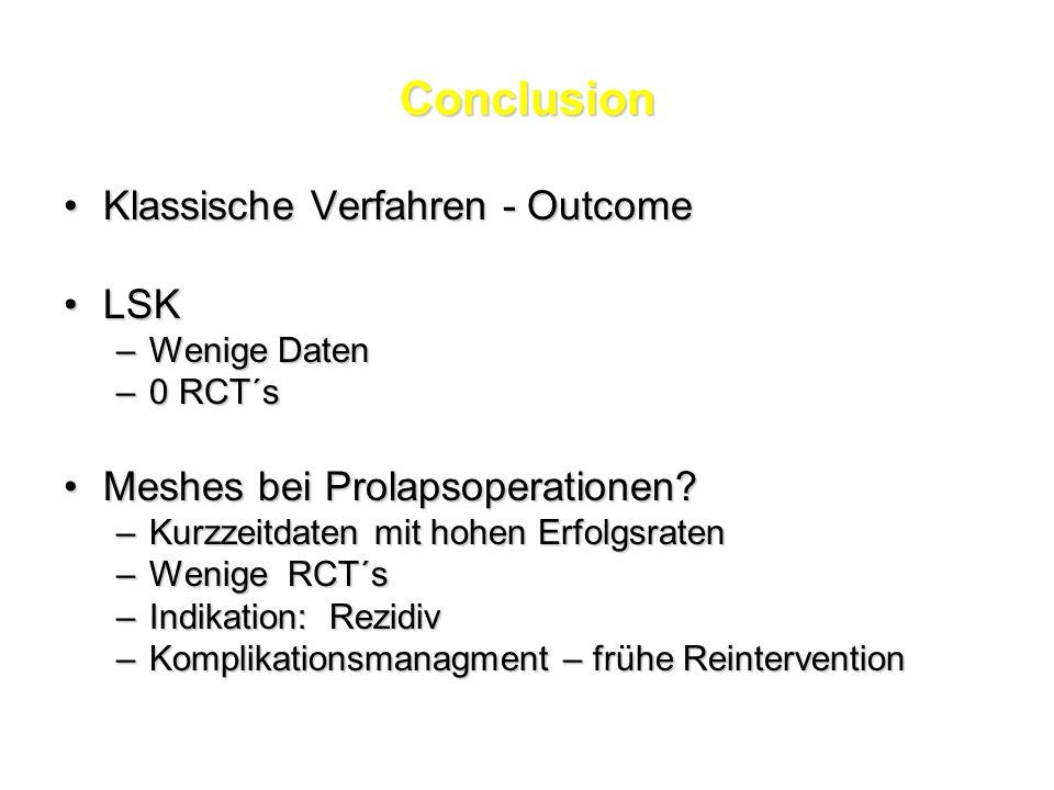 Conclusion Klassische Verfahren - Outcome LSK