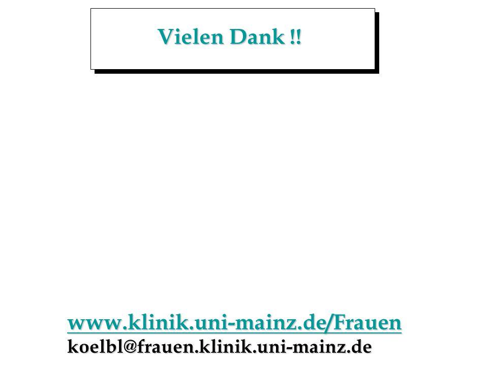 Vielen Dank !! www.klinik.uni-mainz.de/Frauen