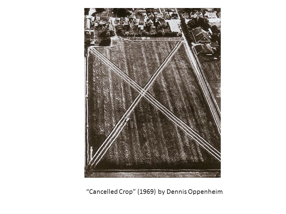 Cancelled Crop (1969) by Dennis Oppenheim