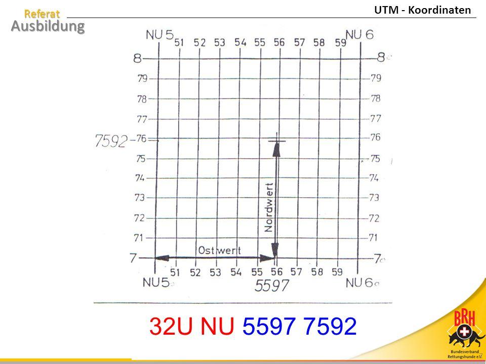 UTM - Koordinaten 32U NU 5597 7592