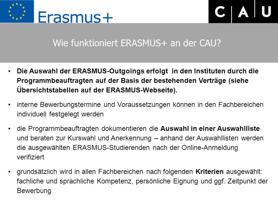 Wie funktioniert ERASMUS+ an der CAU