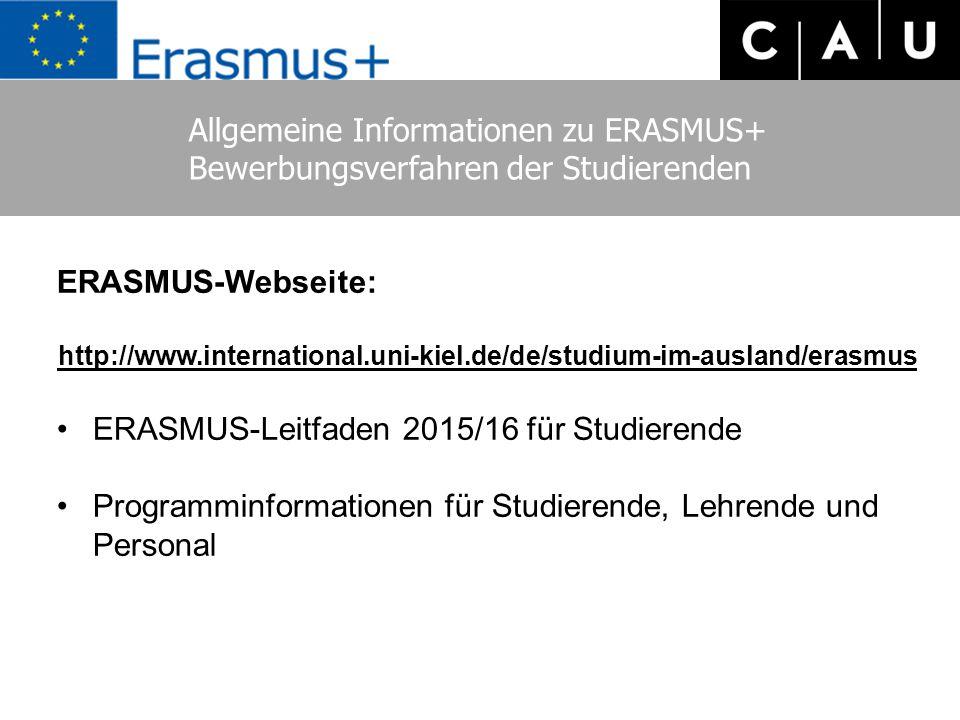 Allgemeine Informationen zu ERASMUS+