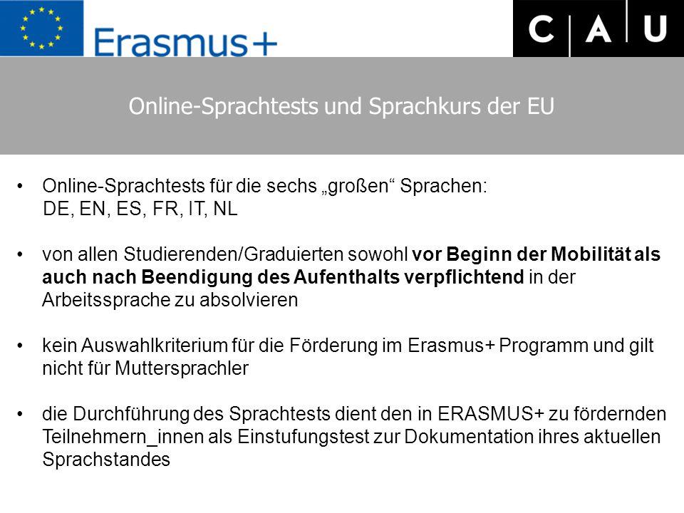 Online-Sprachtests und Sprachkurs der EU