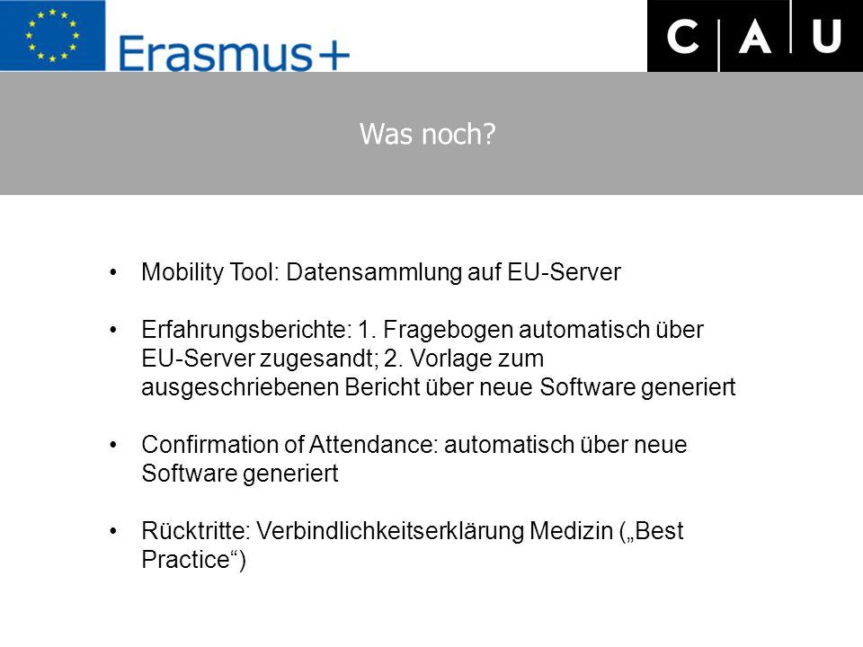 Was noch Mobility Tool: Datensammlung auf EU-Server