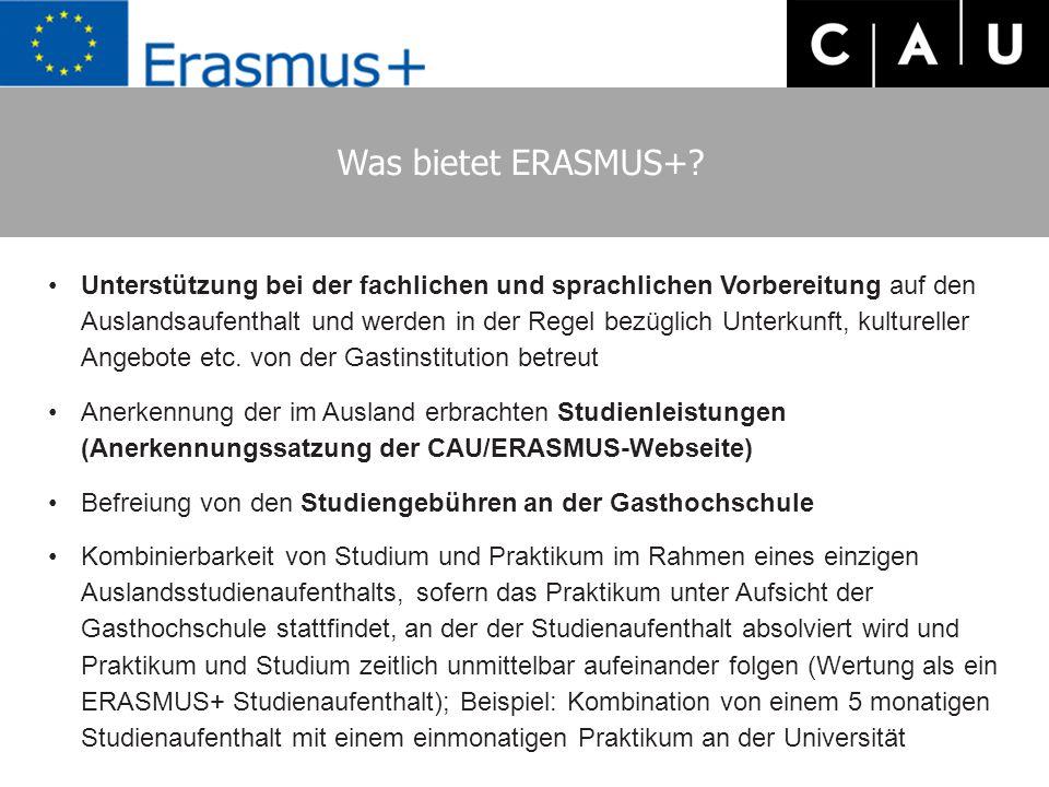 Was bietet ERASMUS+