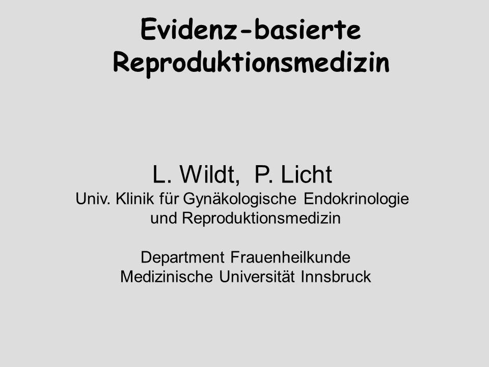 Evidenz-basierte Reproduktionsmedizin