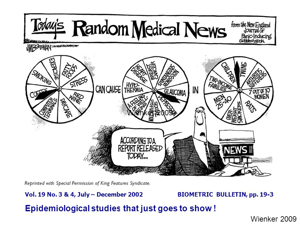 Epidemiological studies ... that just goes to show !