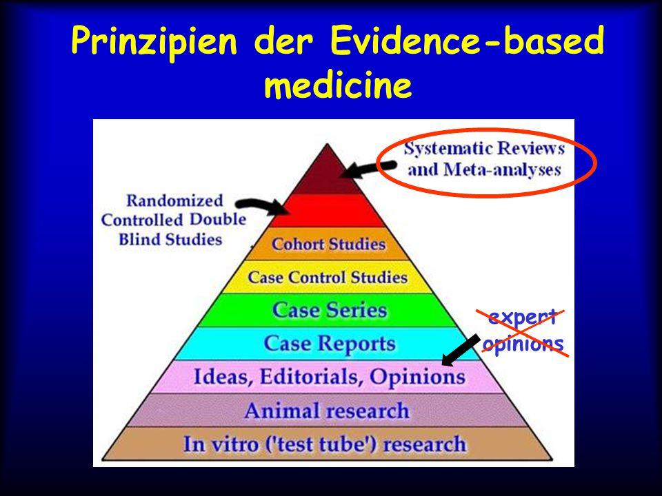 Prinzipien der Evidence-based medicine