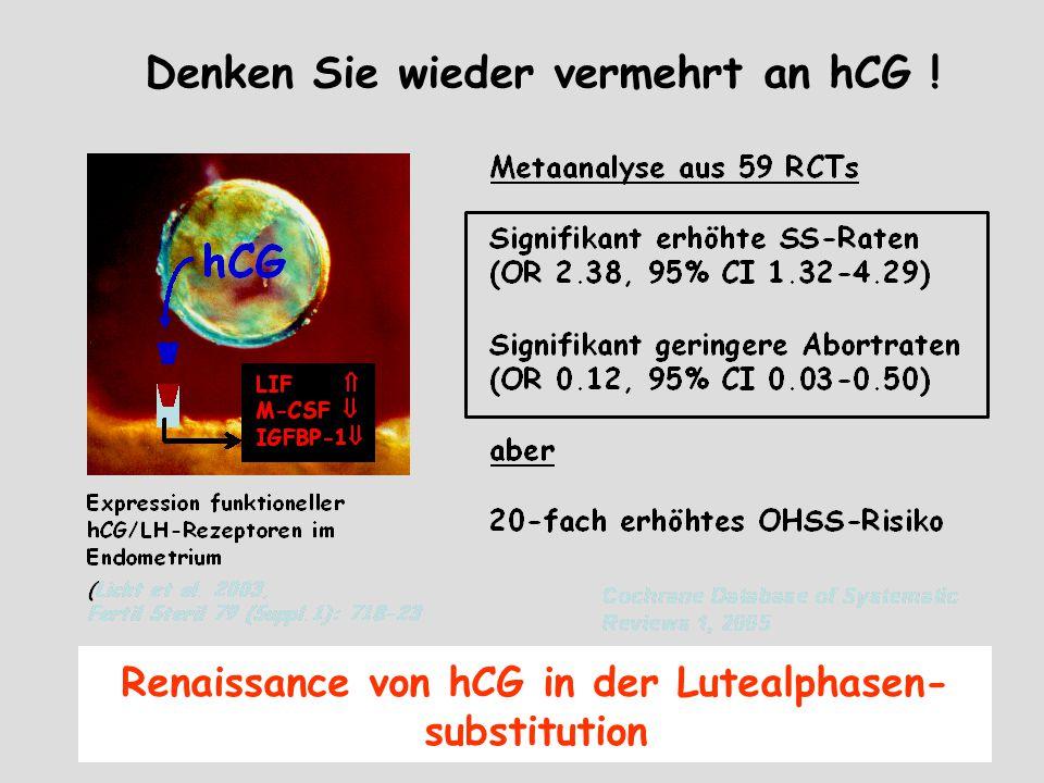 Denken Sie wieder vermehrt an hCG !