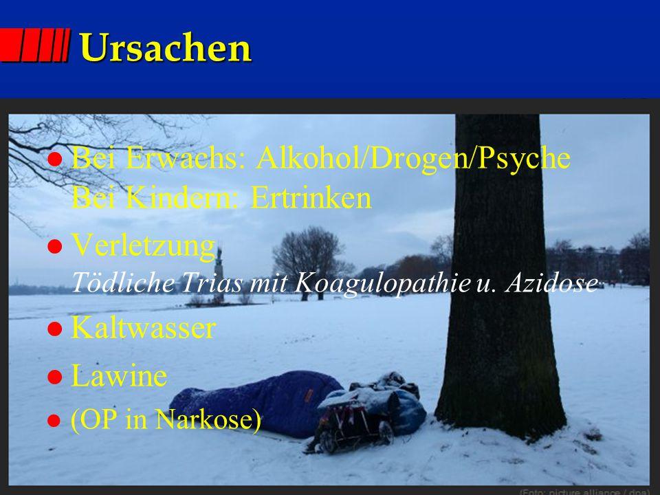 Ursachen Bei Erwachs: Alkohol/Drogen/Psyche Bei Kindern: Ertrinken